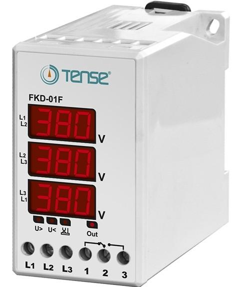 Устройство защиты 3-х фазного электродвигателя микропроцессорные, реле контроля фаз цена купить