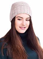 Полушерстяная вязаная шапка