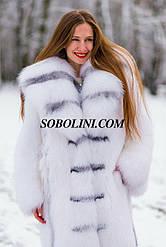 Нереально красивая шубка из полярной лисы