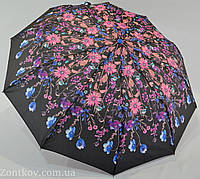 """Женский зонт полуавтомат с цветочным принтом на 10 спиц от фирмы """"SL"""""""