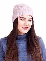 Вязаная шапка с широким отворотом