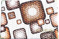 Обложка на паспорт «Ералаш-Абстракция» цвет бело-коричневый