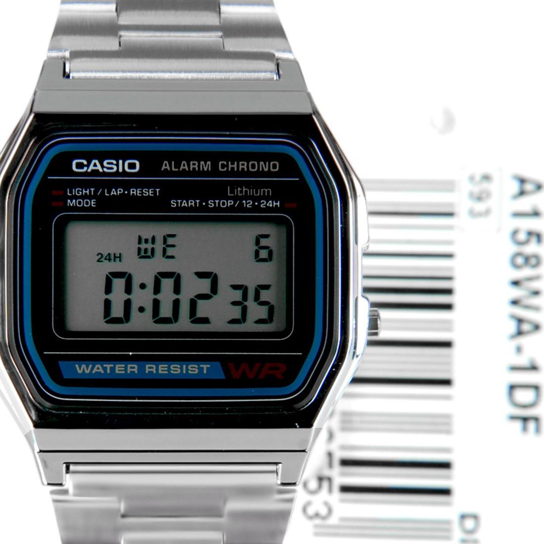 Мужские наручные часы Casio a158wa-1df серебристые