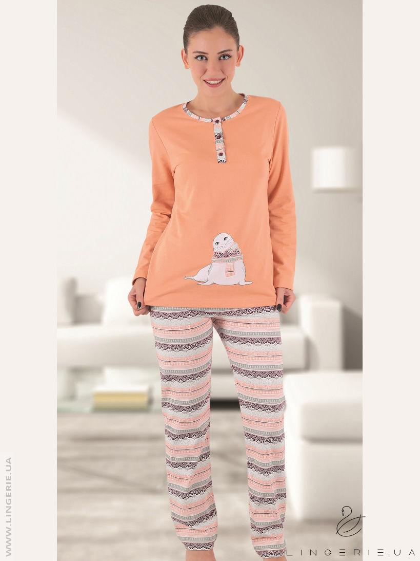 Жіноча байкова піжама Sabrina T-45103