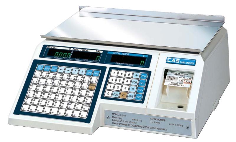 Весы с печатью этикеток CAS-LP-30 (1.6) Ethernet