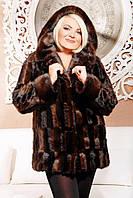 Новинка Шубка из эко-меха (под норку) со съемным капюшоном
