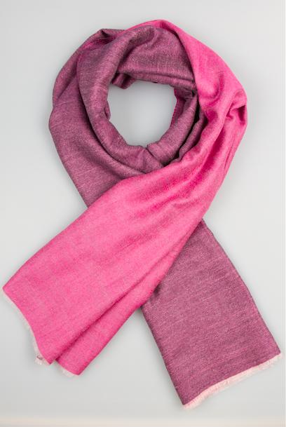 Легендарный кашемировый шарф Chadrin фиолетовый/розовый