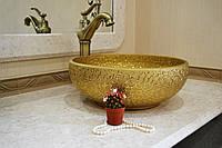Раковина накладная Art Design 0019, золото