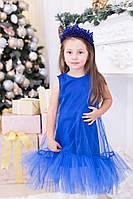 Праздничное платье для девочки, синее