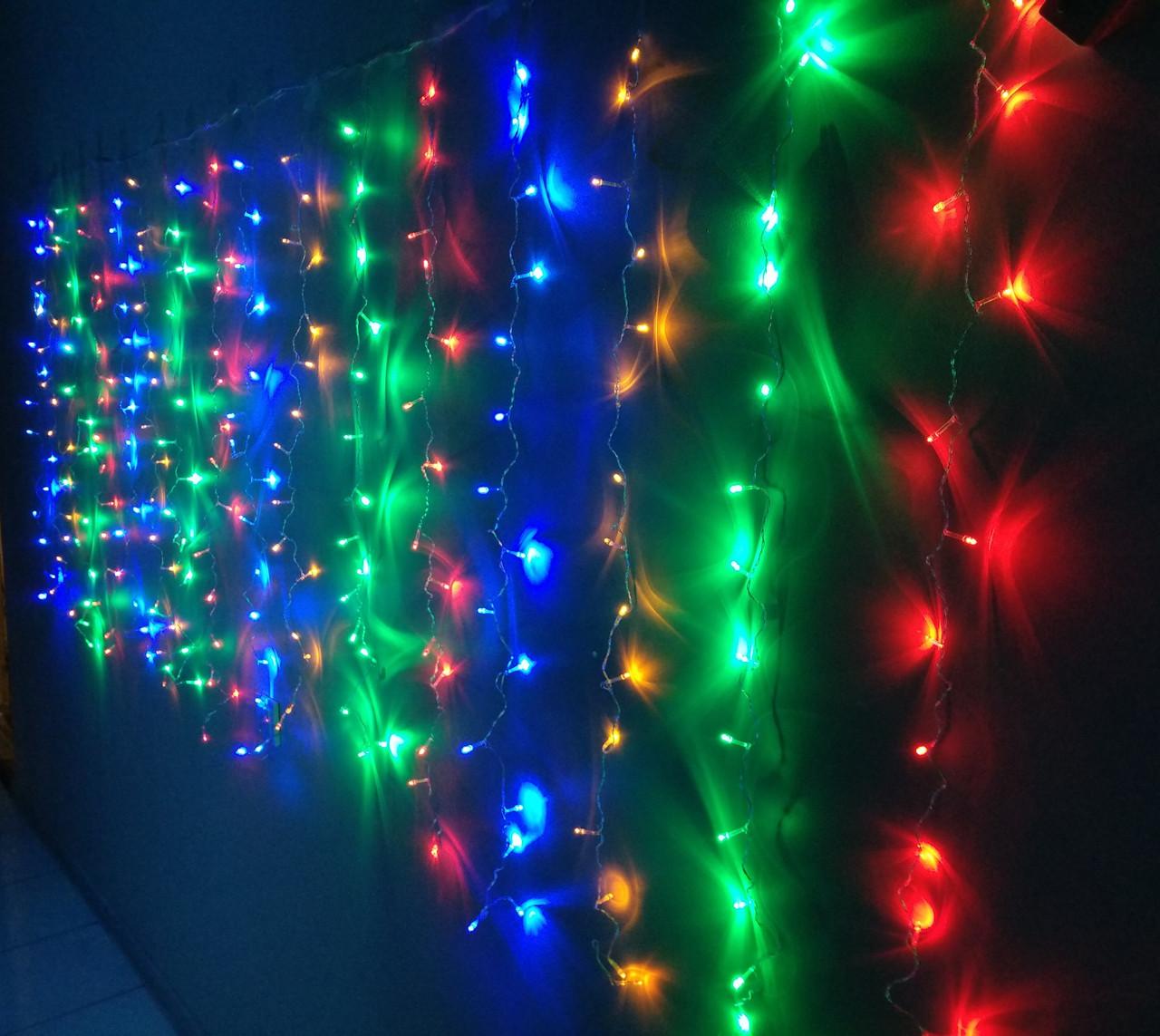 Гирлянда светодиодная Штора 240 л. LED (8 режимов) 3x1.4 м