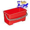 Ведро 22 л. для итальянской уборочной тележки красное, фото 2