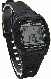 Мужские наручные часы Casio w-201-1avef черные