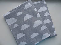 Фланелевые пеленки Облака на сером