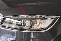 Kia Sorento UM 2015+ хром накладки на передние фары верхние