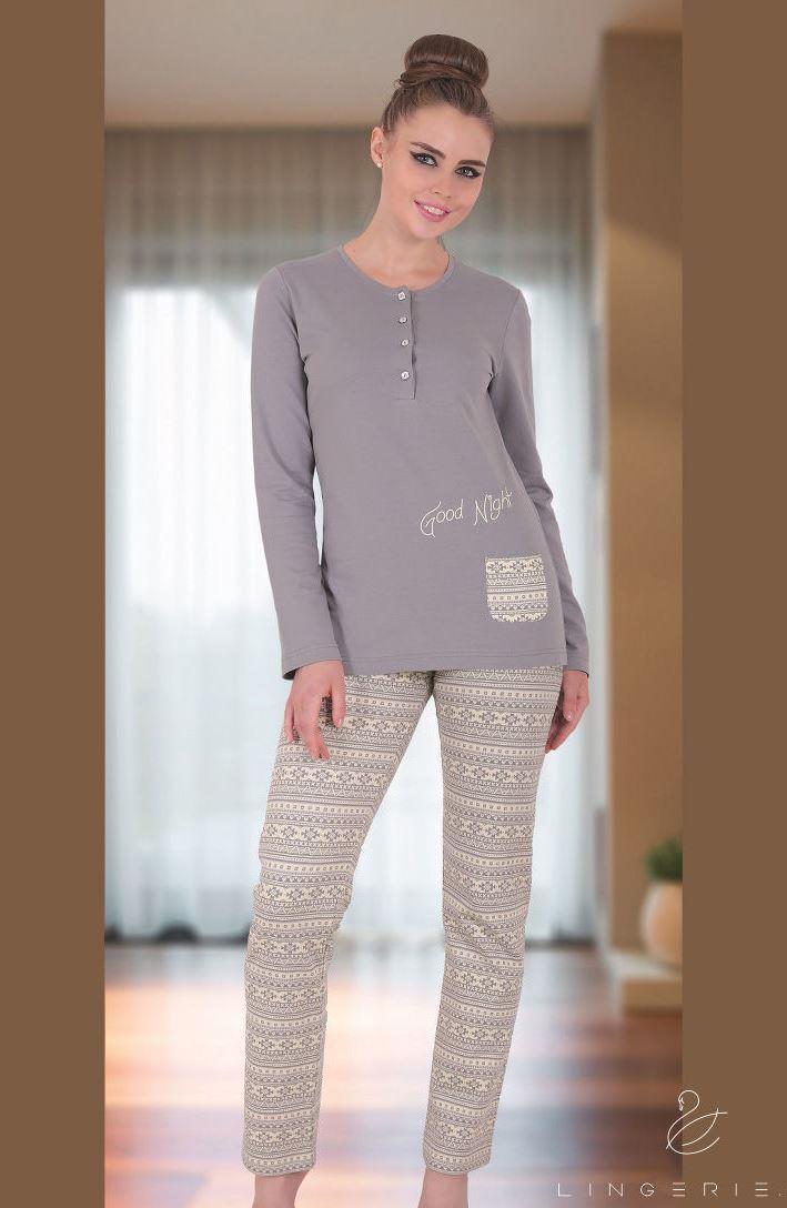 Жіноча байкова піжама Sabrina T-45074