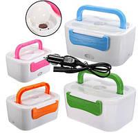 Автомобильный ланч-бокс с подогревом от прикуривателя 12 Вт. The electric lunch box, термос для еды, фото 1