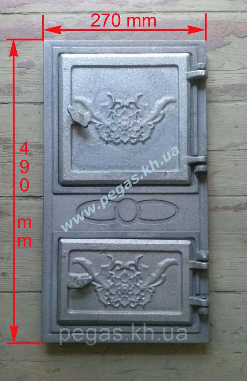 Дверка печная чугунная (270х490 мм)