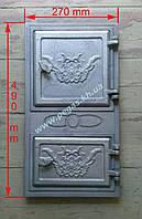 Дверка печная чугунная (270х490 мм), фото 1