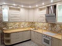 Кухня дерев'яна фарбована (ясен) на замовлення, фото 1