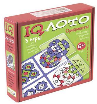 IQ лото.Пластиковое лото. Орнаменты. (6+) Комплект из трех игр.978-5-8112-5885-7