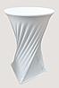 Стрейч чехол на стол 70*110 круглый из плотной ткани Спандекс