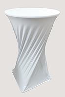 Стрейч чехол на стол 70/110 круглый из плотной ткани Спандекс