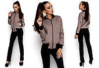 Демисезонная женская куртка-бомбер Каприз (42-48 в расцветках)