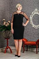 Вечернее платье с костюмки+сетка с 50 по 54 размер 2 цвета