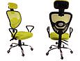 Кресло Офисное Сетка вращающейся колеса резиновые , фото 2