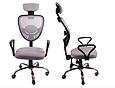 Кресло Офисное Сетка вращающейся колеса резиновые , фото 3