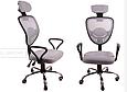 Кресло Офисное Сетка вращающейся колеса резиновые , фото 4