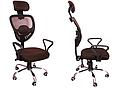 Кресло Офисное Сетка вращающейся колеса резиновые , фото 5