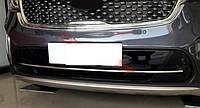 Kia Sorento UM 2015+ хром накладки на решетку радиатора нижняя тип U