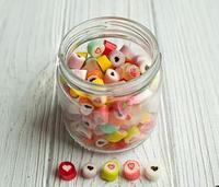 Баночка карамели, Сердце микс, 140 грамм, конфеты на свадьбу, подарки гостям