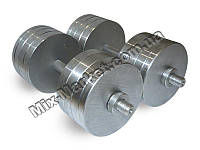 Наборные гантели богатырь металлические 2 штуки по 36 кг