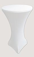 Стрейч чехол на стол 60*110 круглый из плотной ткани Спандекс, фото 1
