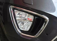 Kia Sorento UM 2015+ хром накладки на противотуманные фары