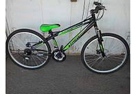Горный спортивный велосипед 24 дюймов Azimut Extreme FR/D (оборудование SHIMANO) черный-зеленый ***