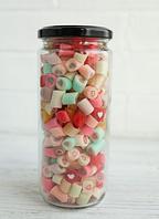 Баночка карамели, Сердце микс, 350 грамм, свадебные подарки гостям