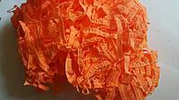 Наполнитель бумажный стружка, оранжевый, 21 г