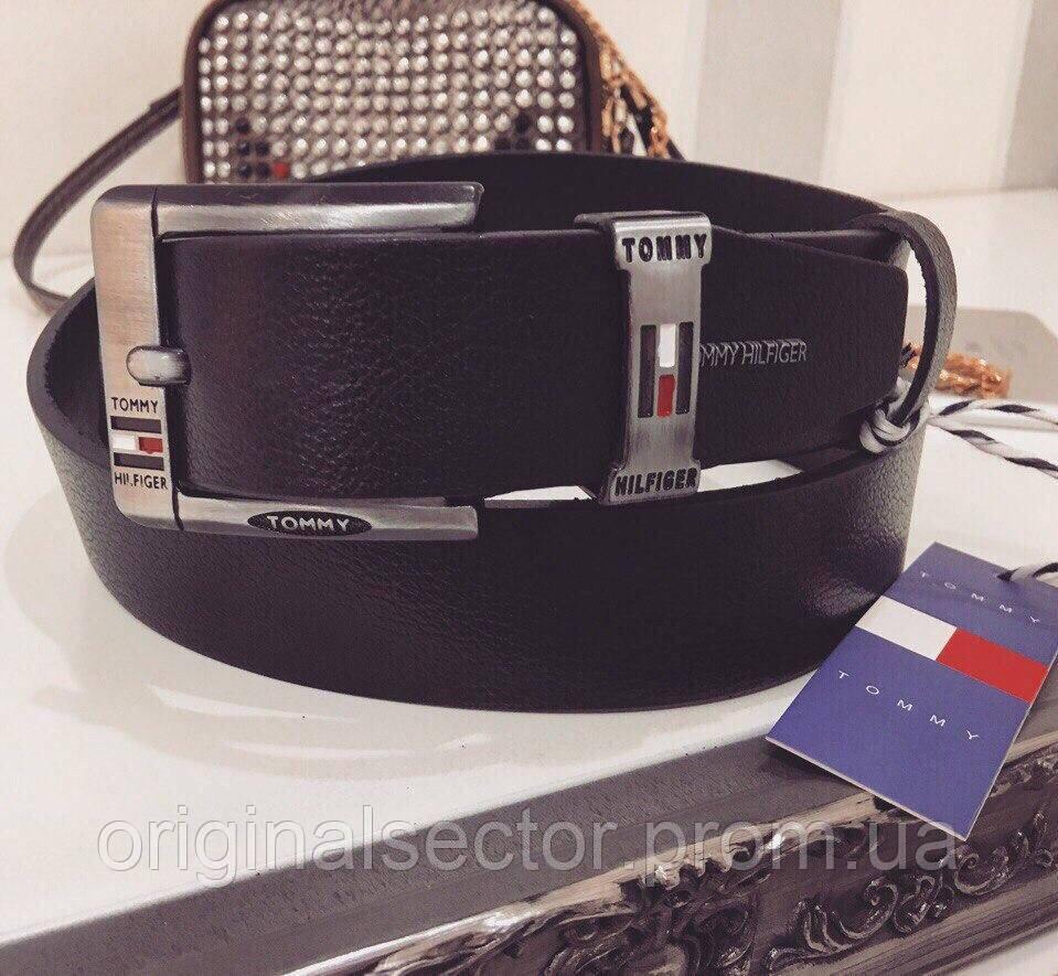 Кожаный черный ремень Tommy Hilfiger 8c43c216d962f