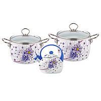 Набор эмалированной посуды 5 предметов Kamille 5900В