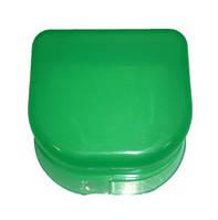 Коробка для ортодонтических и ортопедических конструкций, без отверстий. Цвет зелёный T-B-6
