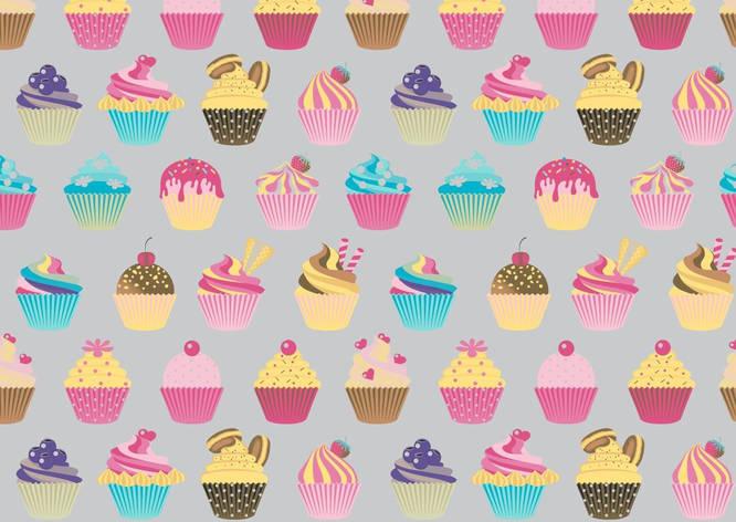 """Польская хлопковая ткань """"разноцветные кексы на сером фоне"""" , фото 2"""