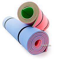 Коврик (каремат) для туризма и фитнеса (D-2118-bl-pink) 200х70см, 8мм