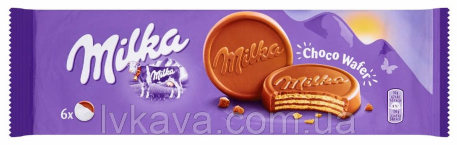 Шоколадні вафлі Milka Choco Wafer, 5 шт х 30 гр, фото 2