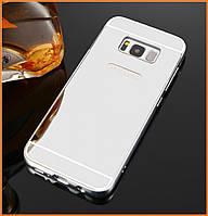 Металлический бампер Epik с акриловой вставкой с зеркальным покрытием для Samsung Galaxy S8 SM-G950 Silver