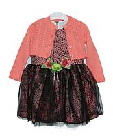 Нарядное платье с болеро для девочек,р.98-116 Турция