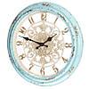 Настенные часы голубые, 35,5 см (арт. 127A)