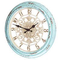 Настенные часы голубые, 35,5 см (арт. 127A), фото 1